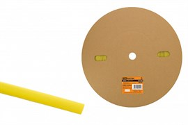Трубка термоусаживаемая ТУТнг 12/6 желтая (100 м/ролл) TDM SQ0518-0023
