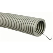 Промрукав Труба ПВХ гофрир. строит, с зондом D=25(100м), (серый)
