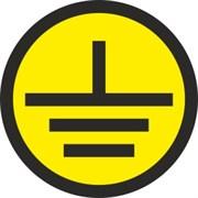 Знак «Заземление» 50х50 (пленка)