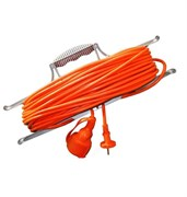 Удлинитель силовой 1 розетка шнур 20м ПВС 2х0.75 УР20