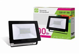 Прожектор светодиодный 100Вт СДО-07-100 черный 8000Лм IP65 6500К 4690612018614 ASD