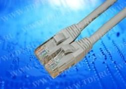 Патч-корд UTP4 cat.6, 0.5м, литой коннектор, серый