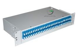 """Кросс оптический в стойку SN 19"""" ПП-10/1U 4LC duplex (в комплекте 4 розетки оптических дуплекс LC sm/mm + 8 пигтейлов LC (UPC) G.652D 0,9mm LSZH - 1,5m)"""