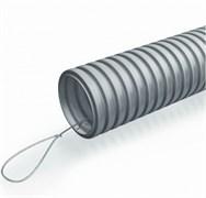 """ТГТ СЗ 25 мм. Труба гофрированная тяжелая с зондом 25 мм. """"ПожТехКабель""""  гибкая со стальной протяжкой, цвет серый."""