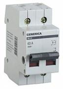 Выключатель нагрузки (мини-рубильник) ВН-32 2Р 63А GENERICA
