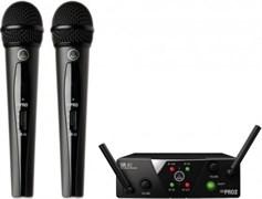AKG WMS40 Mini2 Vocal Set BD US25B/D - вокальная радиосистема с приёмником SR40 Mini Dual и двумя ручными передатчиками, Диапазон несущих частот: 537.9/540.4МГц,