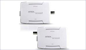 Комплект передачи  ip-видеосигнала по коаксиальному кабелю  AVTECH IP AVX912A KIT