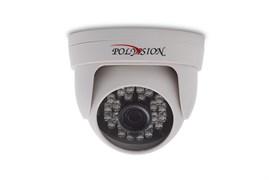 Купольная 1 Мп IP-видеокамера с фиксированным объективом для помещений
