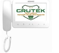 Монитор видеодомофона цветной Kenwei KW-E705FC-W200 White