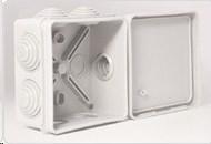 Монтажная коробка с 6 кабельными вводами D = 20мм, 80х80х40 мм