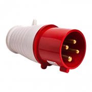 Вилка переносная 014 3Р+РЕ 16А 380В IP44 (ps-014-16-380) EKF