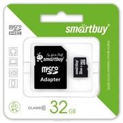 Карта памяти 32Гб MicroSDHC с адаптером 10 класс Smart Buy Trans-Flash 32Гб MicroSDHC
