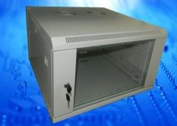 Шкаф настенный 9U серия WM (600х600х501), собранный, серый Netko
