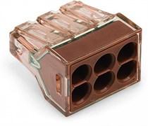 Клемма шестипроводная 1.5-4мм.кв одножильная WAGO  (773-606)