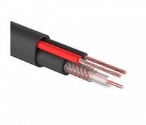 Комбинированный уличный кабель КВК-П-1,5  2x0.75 мм2 75 Ом, плоский Eletec