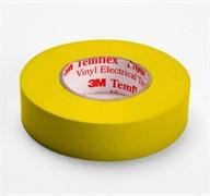 Изолента ПВХ желтая 19 мм 20 м. Temflex 1300