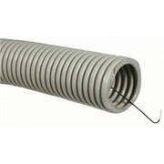 Промрукав Труба ПВХ гофрир. строит, с зондом D=25(50м), (серый)