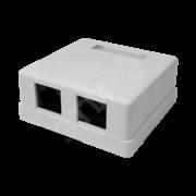 Компьютерная розетка 8P8C (RJ-45), UTP, Cat.5e, 2 порта