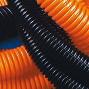 Труба ПНД гофрированная 40мм строительная безгалогенная (HF) с протяжкой черная PR.024051