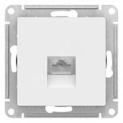 Розетка ATLASDESIGN компьютерная RJ45 механизм белый
