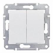 Sedna Выключатель двухклавишный в рамку белый сх.5 Шнейдер Электрик SDN0300121