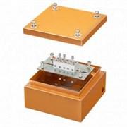 Коробка стальная FS с гладкими стенками и клеммниками, IP66,150х150х80мм, 5р, 450V,10A, 6мм.кв (DKC) FSB30506