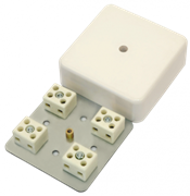 МЕТА 7403-8 Коробка коммутационная огнестойкая 8 конт, 75х75х28мм, IP41