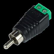 Разъем аудио штекер RCA с клеммной колодкой  Sarmatt SR-RCA-PV