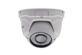 Купольная вандалозащищённая IP-видеокамера с вариофокальным объективом и аудиовходом