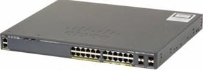 Коммутатор 24 портовый PoE, суммарная мощность 370Вт  Cisco WS-C2960X-24PS-L