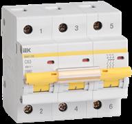 Автоматический выключатель модульный ИЭК ВА47-100 3п