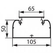 Короб DLP 105х50 одноканальный с гибкой крышкой